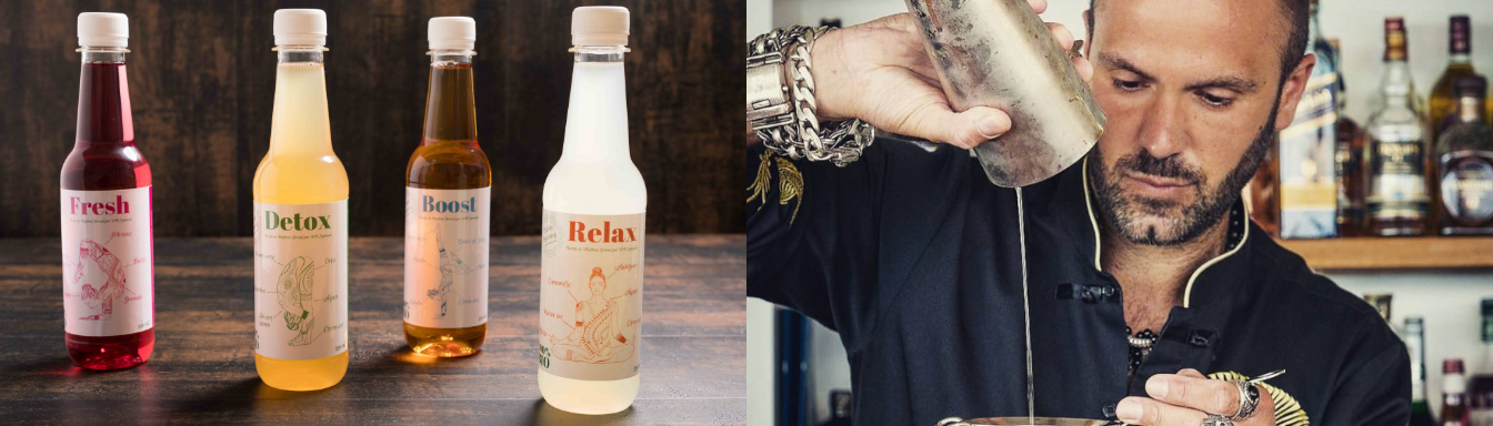 Boissons Picky Spring en collaboration avec Matthias Giroud chef barman de Buddha-Bar monde